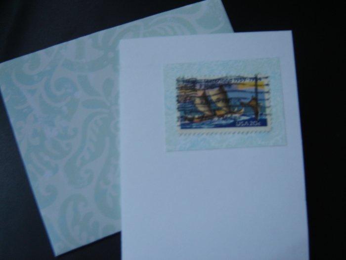Handmade Card featuring US Stamp 2080 - 20c Hawaii Statehood