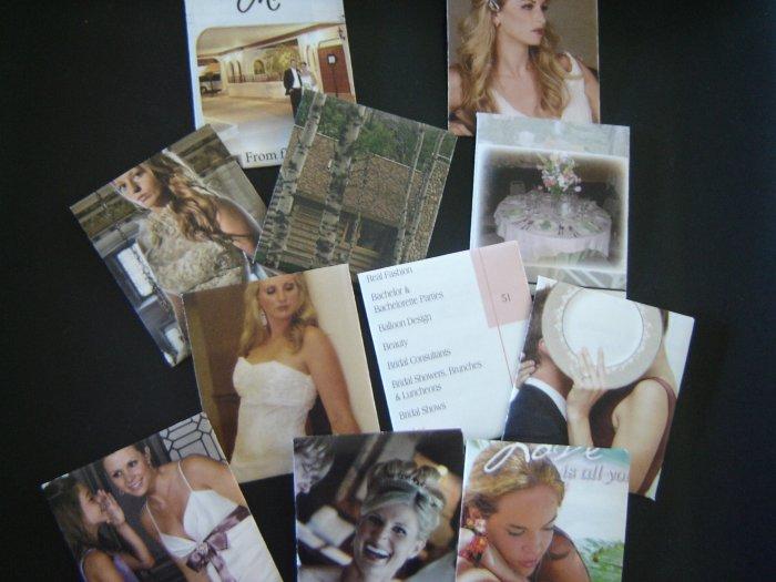 Handmade mini envelopes and notecards - set of 12