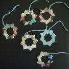 Origami Star Wreath ornaments - set of 6