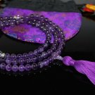 8mm Amethyst Buddhist Mala 108 Beads (Free Bag!)