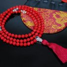 Red Coral Mala Prayer Beads