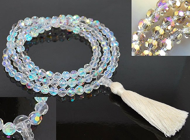 Rainbow Faceted Crystal Mala