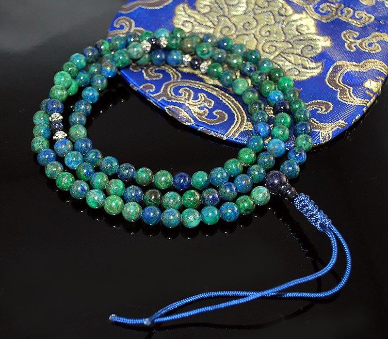Chrysocolla Mala Prayer Beads