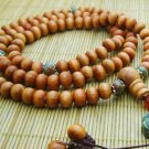Red Wood and Unakite Mala