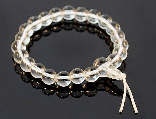 Wrist Mala Clear Crystal