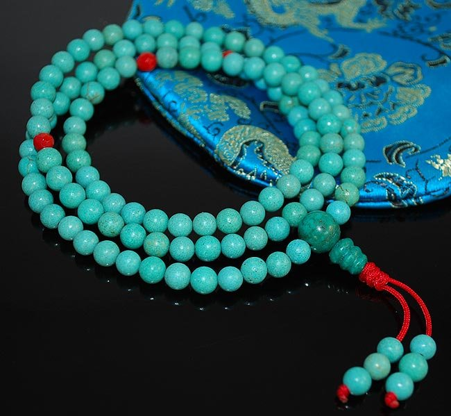 6mm Turquoise and Coral