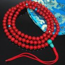 Tibetan Coral & Turquoise Mala