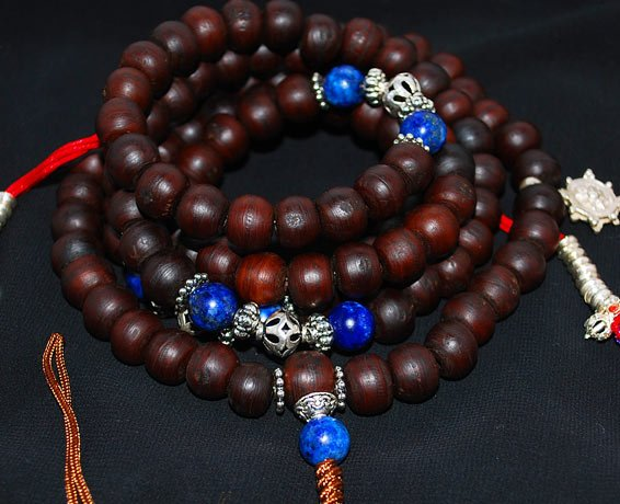 Bodhi Seed and Lapis Mala