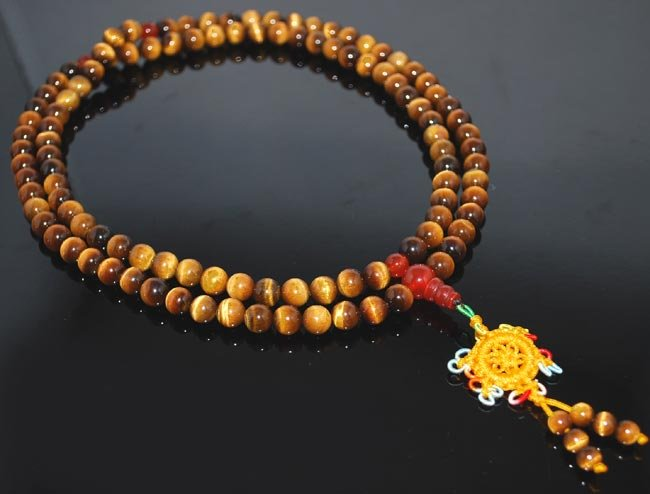 8mm Tigers Eye Mala Imported