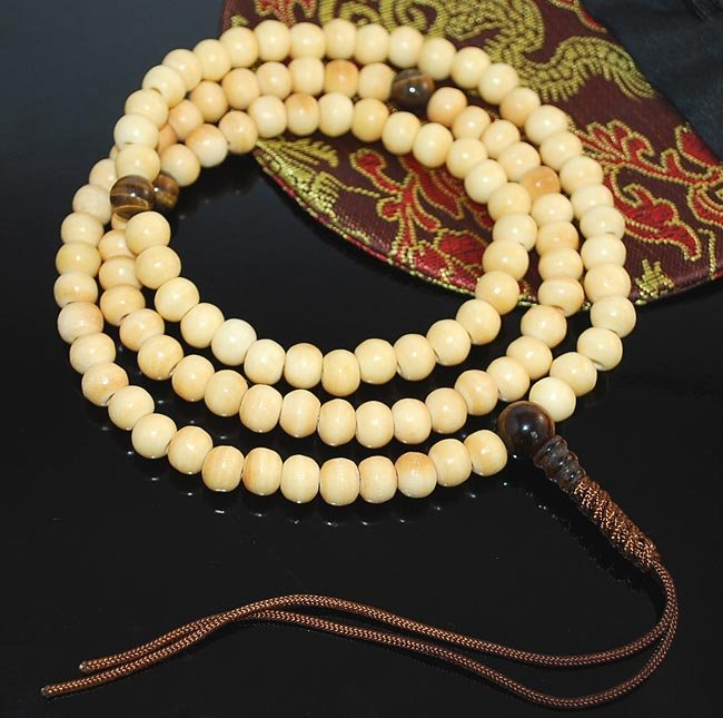 Bone Mala- Cream Colored