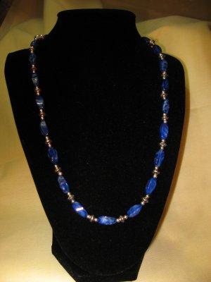 Necklace & Earrings -- Blue