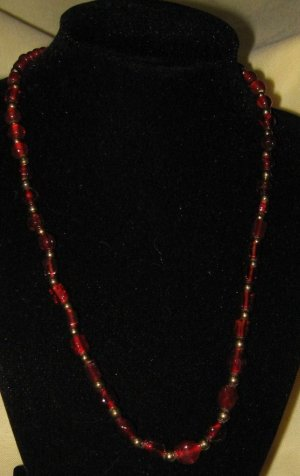 Necklace -- Red
