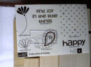 Polka Dots & Paisley Rubber stamp set