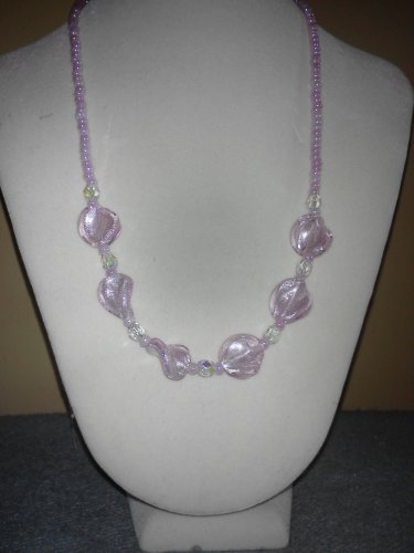 Pretty Pink Twist Necklace