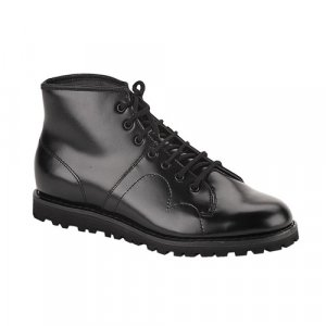 MENS LADIES UNISEX BLACK LEATHER MONKEY BOOTS   MONKEY     BOOT-102