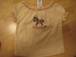 "Gymboree Savanna Sunset ""Wild One"" shirt top 3 - 6 mths NWT Savannah"
