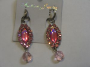 Gorgeous Baby Pink stone studded earrings