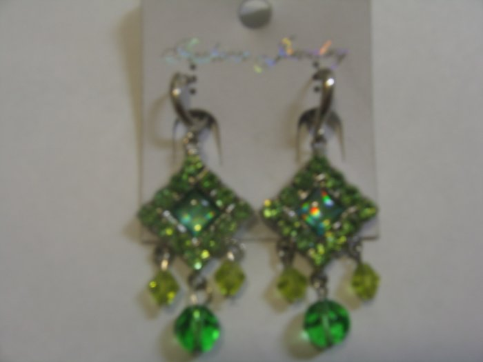 Elegant Emerald Green stone studded Earrings