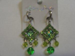 Elegant Emerald Green stone studded Earrings