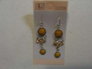 Beautiful Mustard Yellow Stone Studded Earrings