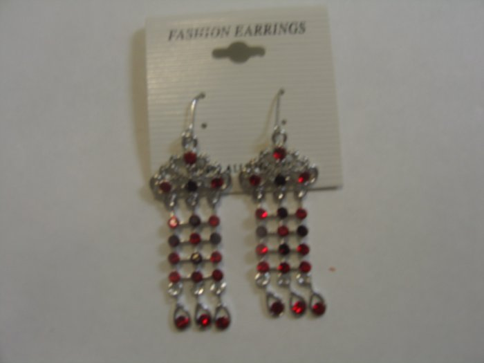 Gorgeous Red Stone Studded Earrings