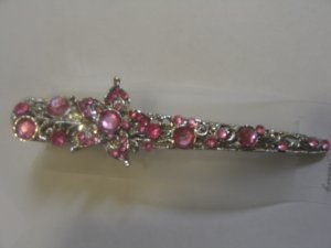 Gorgeous  Baby pink Stone Studded HairClip