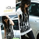 AI-2332 white and pink long tee