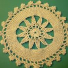 Antique Putty Colored Round Crochet Lace Doily ~ 6 Inch