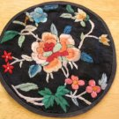 Antique Chinese Souvenir Embroidery ~ Round Floral
