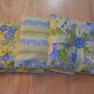 Set of 3 ~ Sachet ~ Pincushion ~ Pillow ~ Yellow & Blue