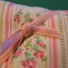Handmade Sachet Pin Cushion ~ Vintage Pink Ticking