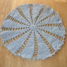 Sweet Vintage Soft Blue Round Crochet Lace Doily ~ 9 In