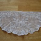 Vintage Filet Crochet Roses Doily ~ 7  x 15 In