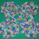 Sweet Vintage Crocheted  Doily ~ Multi-Colored