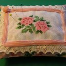 Pink Roses Sachet Pin Cushion ~ Cupboard Shelf Pillow