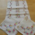 Vintage Printed Linen Breakfast Set ~ Little Flowers
