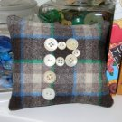 Primitive Sachet ~ Pincushion ~ Pillow ~ Wool & Buttons