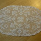 Beautiful Antique Filet Lace Oval Centerpiece ~ 13 x 21