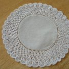 Vintage White Linen Center Doily ~ Tiny Crochet Work