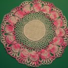Vintage Pink Hand Crocheted Doily ~ Linen Center ~ 7""