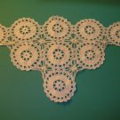 "Antique Putty Color Triangle Crochet Doily ~ 10"" x 19"""
