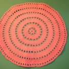 Sweet Vintage Hot Pink Crochet Doily ~ Centerpiece~ 12""