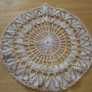 Gorgeous Antique Lace & Gold Thread Round Doily ~ 12.5""