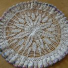 Vintage Frilly Colored Edge Table Centerpiece Doily 18""