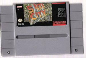 SNES - Sim City- cart only
