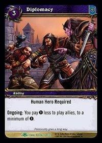 WoW TCG - Dark Portal - Diplomacy x4 - NM - World of Warcraft