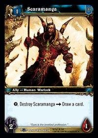 WoW TCG - Dark Portal - Scaramanga x4 - NM - World of Warcraft