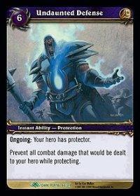 WoW TCG - Dark Portal - Undaunted Defense x4 - NM - World of Warcraft