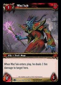 WoW TCG - Dark Portal - Waz'luk x4 - NM - World of Warcraft