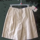 Lizsport Essentials NWT Beige and White Checked Skort Skirt Shorts Size 6